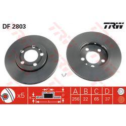 DF2803 TRW DF2803 TARCZA HAMULCOWA 256X22 V 5-OTW AUDI A3/SKODA FABIA/OCTAVIA/VW GOLF IV SZT TRW TARCZE [877721]...