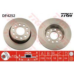 DF4252 TRW DF4252 TARCZA HAMULCOWA 269X20 V 5-OTW AUDI 100/A6 QUATTRO 90-97 SZT TRW TARCZE [879256]...