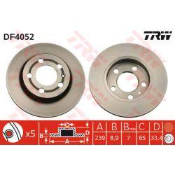 DF4052 TRW DF4052 TARCZA HAMULCOWA 239X9 P 5-OTW AUDI A3/SKODA OCTAVIA/VW GOLF IV SZT TRW TARCZE [883804]...