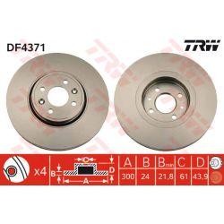 DF4371 TRW DF4371 TARCZA HAMULCOWA 300X24 V 4-OTW RENAULT GRAND SCENIC/SCENIC II 1.5-2.0 03- PRZ SZT TRW TARCZE [887650]...