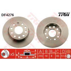 DF4276 TRW DF4276 TARCZA HAMULCOWA 255X10 P 5-OTW AUDI A3/VW GOLF V 03 SZT TRW TARCZE [888995]...