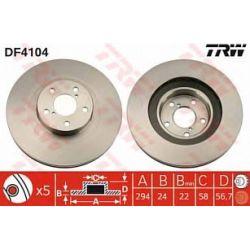 DF4104 TRW DF4104 TARCZA HAMULCOWA 294X24 V 5-OTW SUBARU IMPREZA/OUTBACK 98-03 SZT TRW TARCZE [889134]...