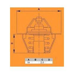 5700.82 VR 5700.82 TERMOSTAT FIAT DUCATO 2.5 D 87-94 FIAT CROMA 2.5TD 89-96 SZT VERNET TERMOSTATY [890159]...