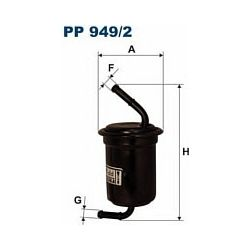 PP 949/2 F PP949/2 FILTR PALIWA KIA SPORTAGE 2,0I 2,0I 16V 99- SZT FILTRY FILTRON [894093]...