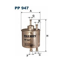 PP 947 F PP947 FILTR PALIWA MERCEDES KLASA A (A140 A160 A190) 97- SZT FILTRY FILTRON [894791]...