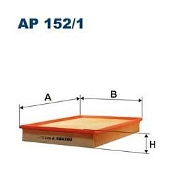 AP 152/1 F AP152/1 FILTR POWIETRZA OPEL VECTRA C 1,6/1,8 16V 3/02- SZT FILTRY FILTRON [894895]...