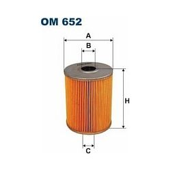 OM 652 F OM652 FILTR OLEJU VW GOLF III 2,8I-95 PASSAT VENTO SZT FILTRY FILTRON [894953]...