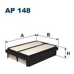 AP 148 F AP148 FILTR POWIETRZA MAZDA XEDOS 9 2,5I 93- SZT FILTRY FILTRON [895044]...