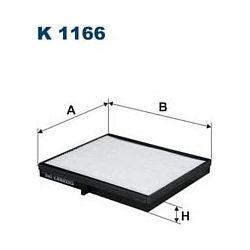 K 1166 F K1166 FILTR KABINOWY CHEVROLET LACETTI 1.4-1.8 16V 04- DAEWOO NUBIRA II 1.6/1.8 16V 03- FILTRY FILTRON [895455]...