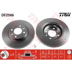 DF2586 TRW DF2586 TARCZA HAMULCOWA 259X21 V 4-OTW RENAULT 19/CLIO/MEGANE/TWINGO SZT TRW TARCZE [896790]...