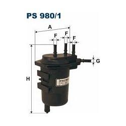 PS 980/1 F PS980/1 FILTR PALIWA RENAULT MEGANE II/SCENIC II 1.5DCI 02- SZT FILTRY FILTRON [898776]...