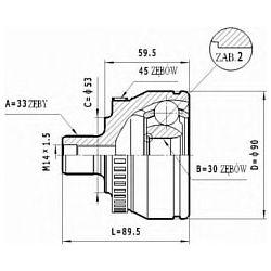 C.297 STA C.297 PRZEGUB HOMOKIN. ZEWN VW PASSAT 1.6 1.8 96-00 SZT STATIM PRZEGUBY STATIM [903273]...