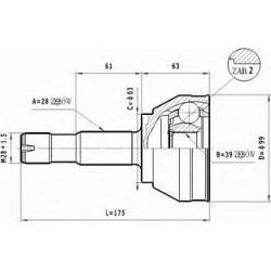 C.125 STA C.125 PRZEGUB HOMOKIN. ZEWN- FIAT DUCATO 94-02 /100 SR.ZEW./ SZT STATIM PRZEGUBY STATIM [903496]...