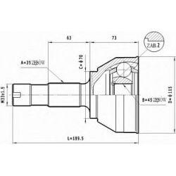 C.129 STA C.129 PRZEGUB HOMOKIN. ZEWN- FIAT DUCATO 94-02 /115 SR.ZEW./ SZT STATIM PRZEGUBY STATIM [903499]...