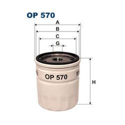OP 570 T F OP570T FILTR OLEJU OPEL/DAEWOO/CHEVROLET/SAAB (LUZ, BEZ OPAKOWANIA) SZT FILTRY FILTRON [904410]...