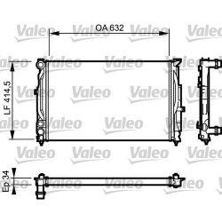 732361 V 732361 CHLODNICA AUDI A4 (8D/B5) 94-11/00 1.6/1.9TDI/VW PASSAT 1.6/1.9TD SZT VALEO CHLODNICE VALEO [910221]...