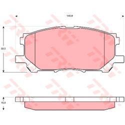GDB3397 TRW GDB3397 KLOCKI HAMULCOWE LEXUS RX 350/ RX 400H 04- GR.16,8MM PRZ TRW [913082]...