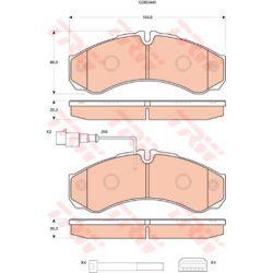 GDB3440 TRW GDB3440 KLOCKI HAMULCOWE NISSAN CABSTAR 06- TYL KPL TRW [913688]...