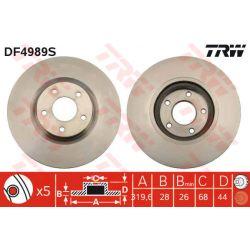 DF4989S TRW DF4989S TARCZA HAMULCOWA 320X28 V 5-OTW RENAULT KOLEOS 08 PRZOD SZT TRW TARCZE [914898]...