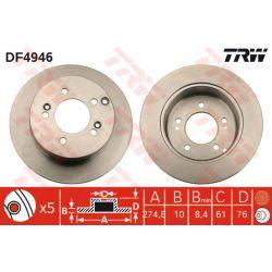 DF4946 TRW DF4946 TARCZA HAMULCOWA 275X10 P 5-OTW KIA CARENS 02 CARENS 06 TYL SZT TRW TARCZE [914907]...