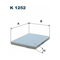 K 1252 F K1252 FILTR KABINOWY RENAULT KOLEOS 08 ; SZT FILTRY FILTRON [915850]...