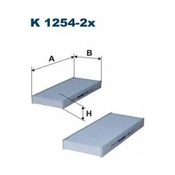K1254-2X F K1254-2X FILTR KABINOWY NISSAN NAVARA/PATHFINDER SZT FILTRY FILTRON [916458]...