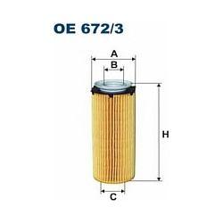 OE 672/3 F OE672/3 FILTR OLEJU BMW 325D/330D/ E90-93/525D/530D F10/F11/730D/740D/X5/X6 SZT FILTRY FILTRON [916473]...