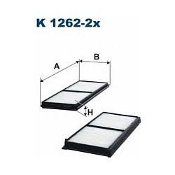 K 1262-2X F K1262-2X FILTR KABINOWY MAZDA 2 07 ; SZT FILTRY FILTRON [917332]...