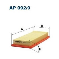 AP 092/9 F AP092/9 FILTR POWIETRZA FIAT FIORINO/CITR NEMO/PEUG BIPPER 08 ; SZT FILTRY FILTRON [917539]...