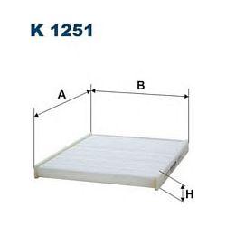 K 1251 F K1251 FILTR KABINOWY FORD FIESTA VI 08 ; SZT FILTRY FILTRON [918576]...