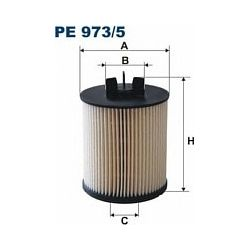 PE973/5 F PE973/5 FILTR PALIWA AUDI A2 02 1.2/1.4 TDI SZT FILTRY FILTRON [918589]...