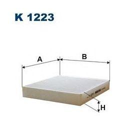 K 1223 F K1223 FILTR KABINOWY OPEL ASTRA J 09 INSIGNIA 08 CHEVROLET CRUZE 090 SZT FILTRY FILTRON [918594]...