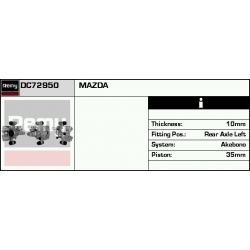 DC72950 DR DC72950 ZACISK HAMULCOWY MAZDA 323 F VI/626 V/PREMACY 98 - TYL LEWY [SR.35] SYS.AKEBONO DELCOREMY SZT REMY ZACISKI HAMULCOWE REM [919470]...