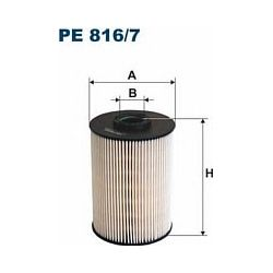 PE 816/7 F PE816/7 FILTR PALIWA CITROEN C5 2,7 V6 HDI 04/2008 / C6 2,7 V6 HDI 10/2005 SZT FILTRY FILTRON [923045]...