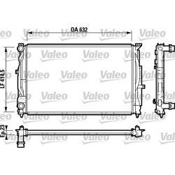 732811 V 732811 CHLODNICA AUDI A4 (8D/B5) 94-11/00 1.6/1.8/2.4/VW PASSAT 1.6/1.8 629X399X22 SZT VALEO CHLODNICE VALEO [925506]...