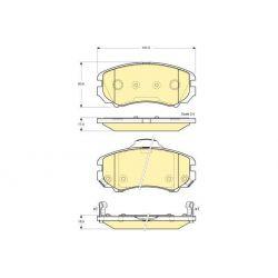 6133869 GIR 6133869 KLOCKI HAMULCOWE KIA SPORTAGE 2,0 16V/ SPORTAGE 2,7 V6 GIRLING KPL GIRLING KLOCKI GIRLING [927600]...