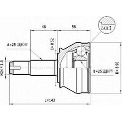 C.172 STA C.172 PRZEGUB HOMOKIN. ZEWN- FIAT TEMPRA 1.8 2.0 1.9TD SZT STATIM PRZEGUBY STATIM [928512]...