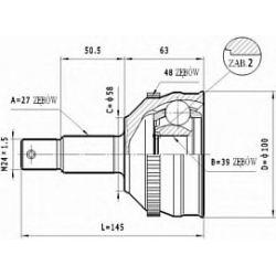 C.130 STA C.130 PRZEGUB HOMOKIN. ZEWN- FIAT SCUDO 96- PEUGEOT EXPERT SZT STATIM PRZEGUBY STATIM [928521]...