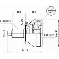 C.012 STA C.012 PRZEGUB HOMOKIN. ZEWN- VW GOLF IV 1.9 TDI 00- SZT STATIM PRZEGUBY STATIM [928532]...