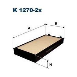 K 1270-2X F K1270-2X FILTR KABINOWY BMW X5 (E70) 06 ; SZT FILTRY FILTRON [929837]...