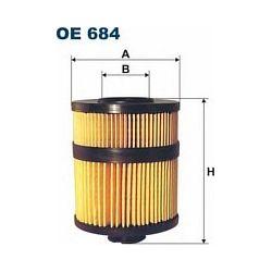 OE 684 F OE684 FILTR OLEJU OPEL VECTRA C /SILNIK ISUZU/ SZT FILTRY FILTRON [929844]...