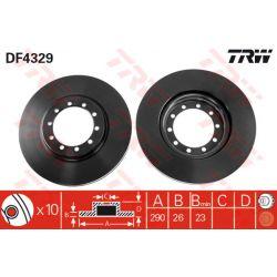 DF4329 TRW DF4329 TARCZA HAMULCOWA 290X26 V 10 RENAULT MASCOTT 110/130/140 99-04 SZT TRW TARCZE [930675]...