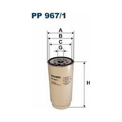 PP 967/1 F PP967/1 FILTR PALIWA DAF 75 CF 85 CF 02 - ; SZT FILTRY FILTRON [932084]...
