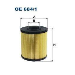 OE 684/1 F OE684/1 FILTR OLEJU OPEL VECTRA C/ESPACE IV/VEL SATIS 3.0 CDTI/DCI 05 ; SZT FILTRY FILTRON [934003]...
