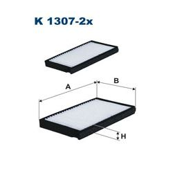 K1307-2X F K1307-2X FILTR KABINOWY HYUNDAI H1 08 SZT FILTRY FILTRON [935420]...