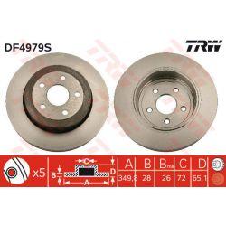 DF4979S TRW DF4979S TARCZA HAMULCOWA 350X28 V 5-OTW JEEP GRAND CHEROKEE III 04 PRZOD SZT TRW TARCZE [935808]...
