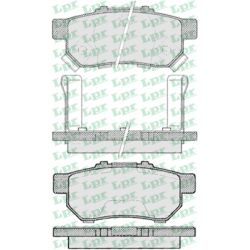 05P991 LPR 05P991 KLOCKI HAMULCOWE HONDA CIVIC IV 1/92-10/95/ CRX 92-4/98 GR.12,6MM /TYL/* LPR KLOCKI LPR [936196]...