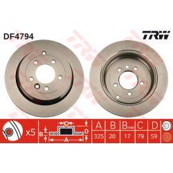 DF4794 TRW DF4794 TARCZA HAMULCOWA 325X20 V 5-OTW LAND ROVER DISCOVERY III 04 TYL SZT TRW TARCZE [937379]...