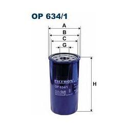 OP 634/1 F OP634/1 FILTR OLEJU OPEL MONTEREY 98 ; 3.0 DTI SZT FILTRY FILTRON [942287]...