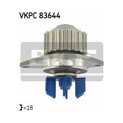 VKPC 83644 SKF VKPC83644 POMPA WODY PEUGEOT 106/206/306/307 1,1-1,4,CITROEN C2,C3 1.1,1.4 02-05 SZT SKF POMPY WODY SKF [942808]...